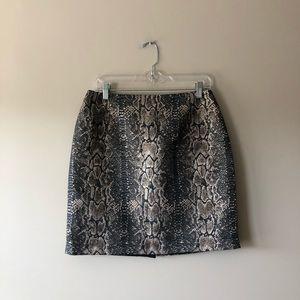 Gianni Bini metallic snakeskin printed skirt